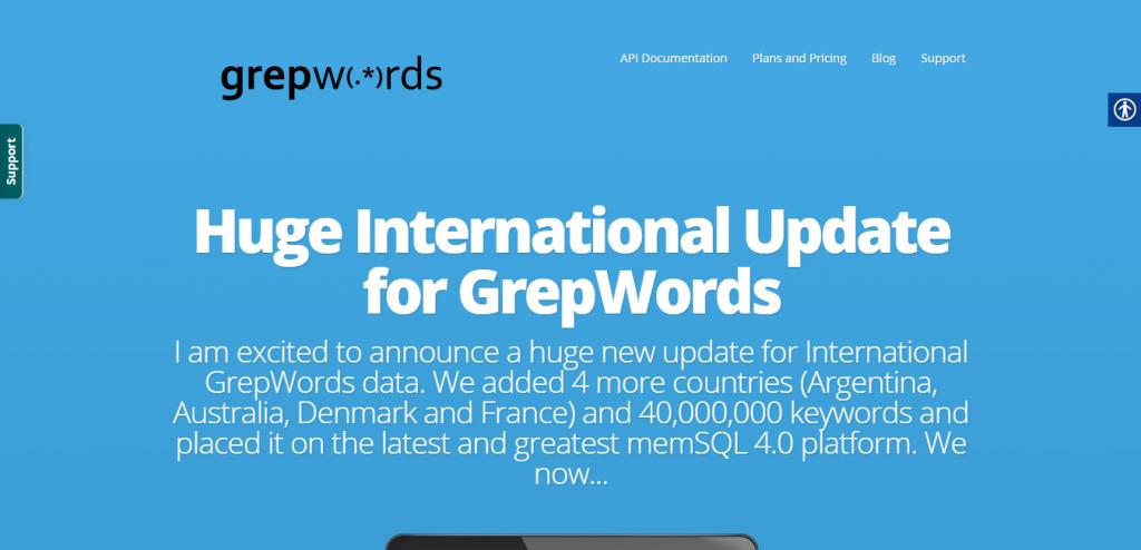 GrepWords keyword suggestion tools
