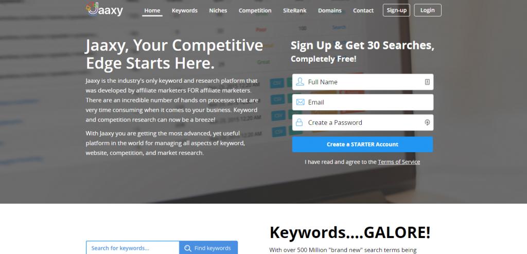 Jaaxy keyword suggestion tools