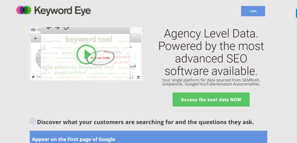 Keyword Eye SEO Tools suggestion