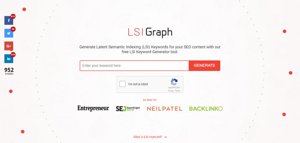 LSI Keyword Generator suggestion tools
