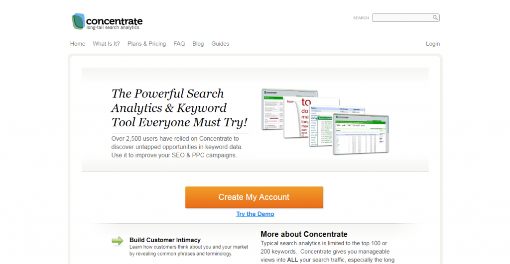 Concentrateme keyword suggestion tools