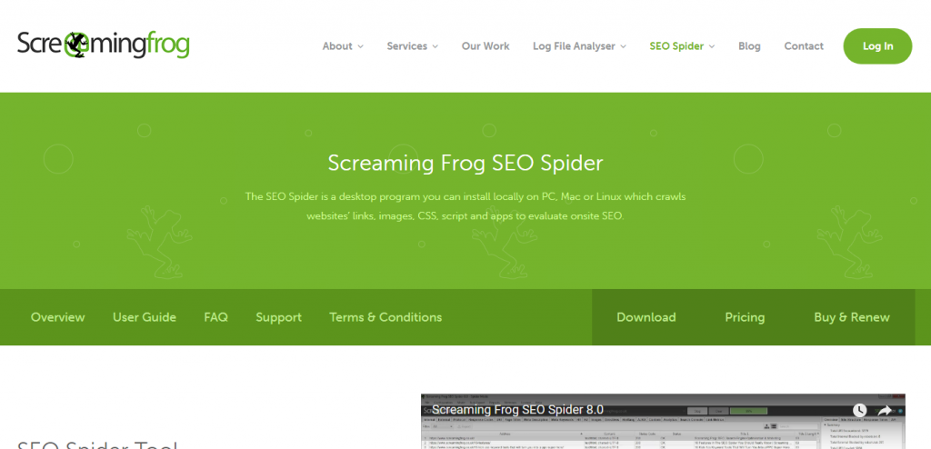 Screaming frog seo spider tool crawler software download pdf for Frog software
