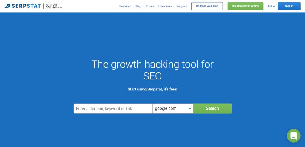 Serpstat keyword suggestion tools