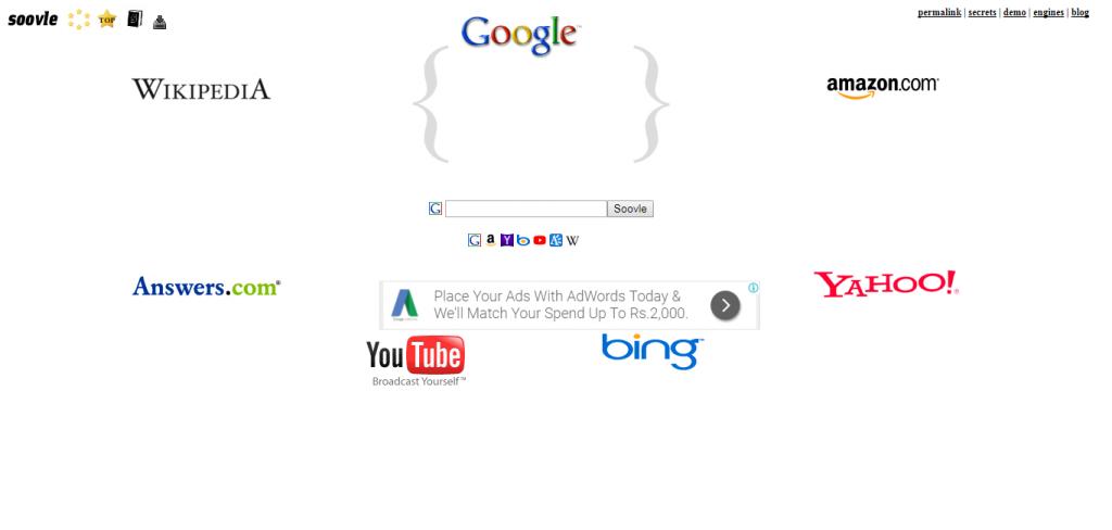 Soovle keyword suggestion tools