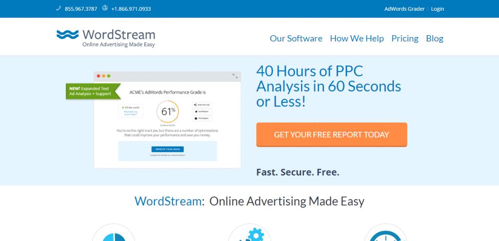 WordStream keyword suggestion tools