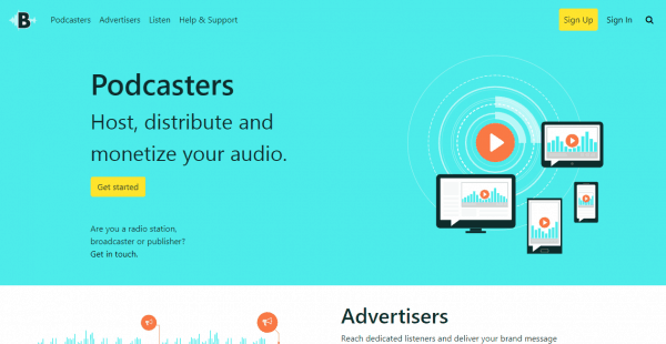 AudioBoom podcast hosting sites
