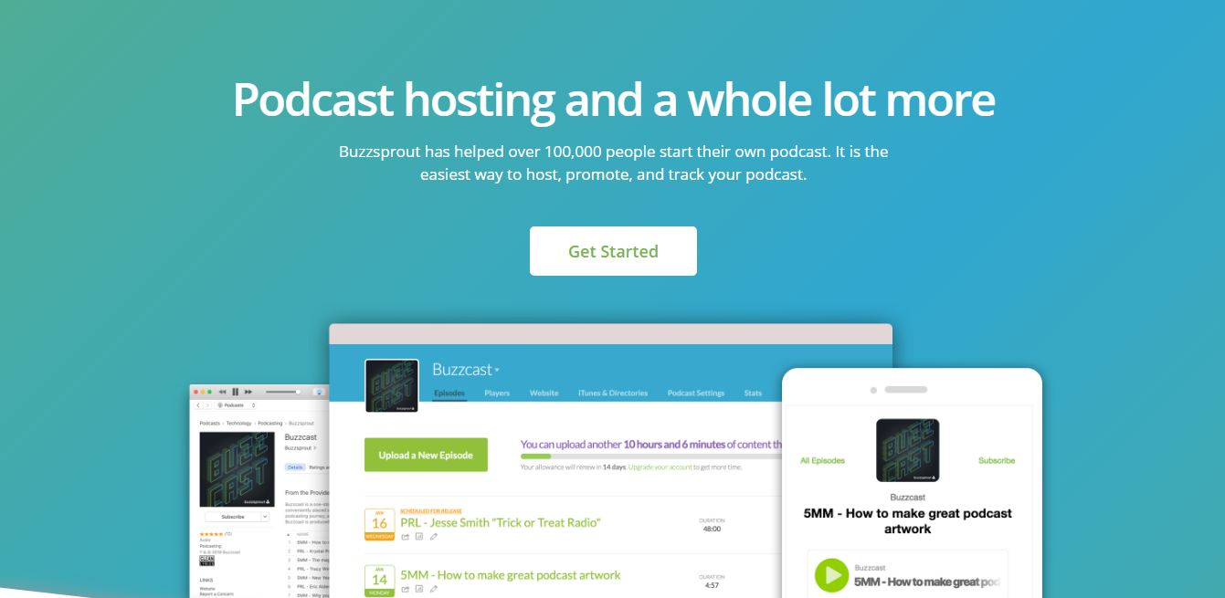 BuzzSprout podcast hosting sites