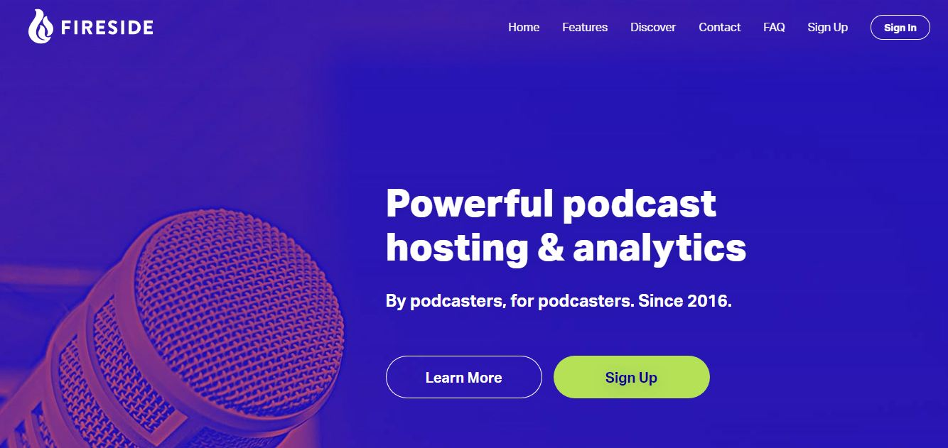 Fireside podcast hosting sites