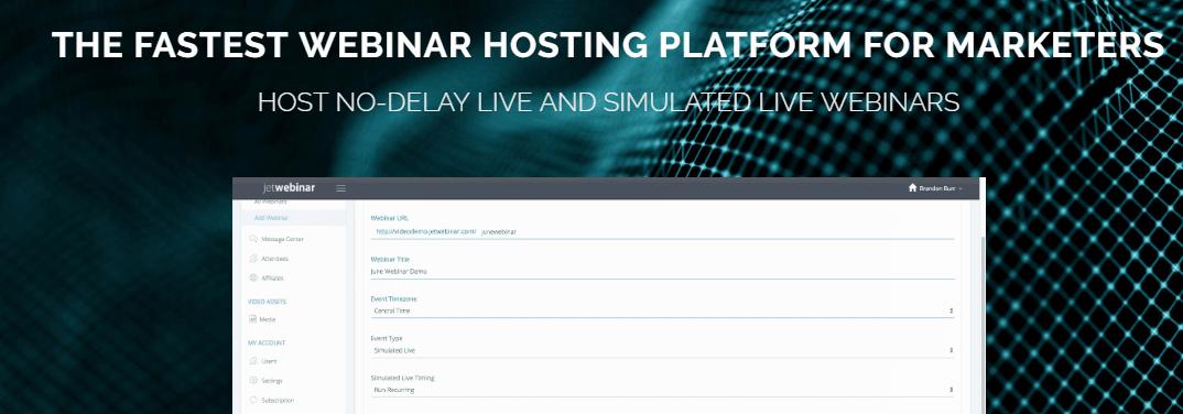 JetWebinar Webinar Hosting Websites