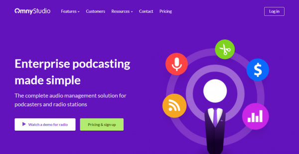OmnyStudio podcast hosting sites