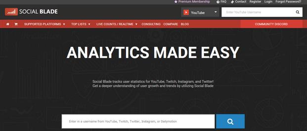 Social Blade YouTube Marketing Tools