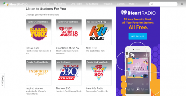 iHeart podcast hosting sites