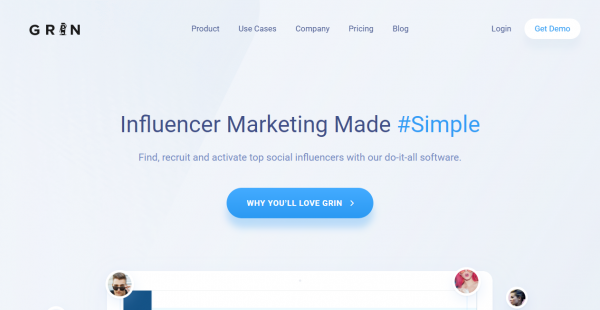 Grin influencer outreach tools