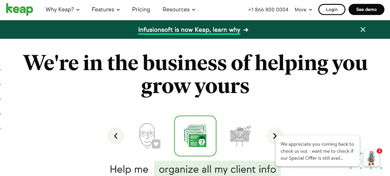 Keap Growth Hacking Tool