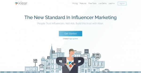 Klear influencer outreach tools