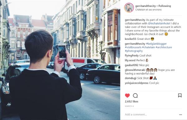 Le Chatelain hotel - identifying social media influencers
