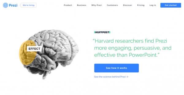 Prezi content marketing platforms