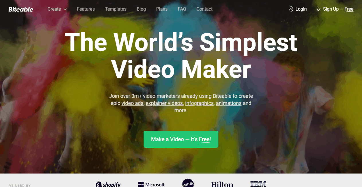 Biteable video making tools
