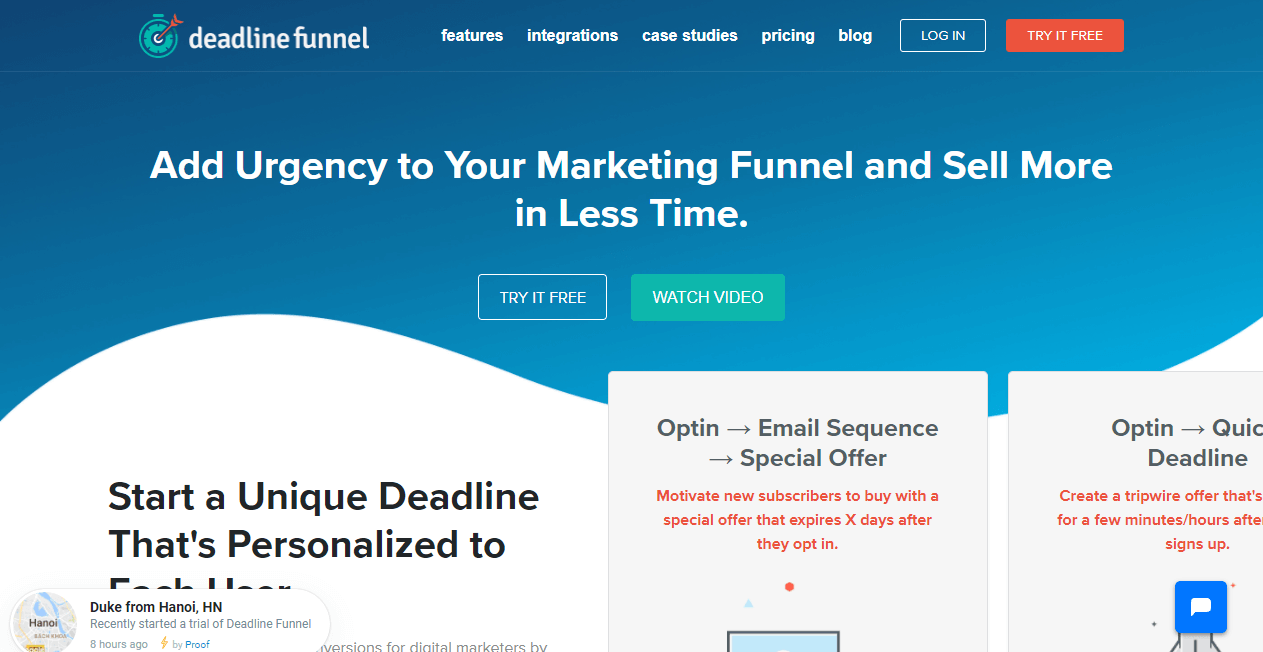 Deadline Funnel sales funnel tools