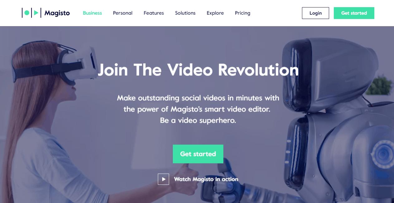 Magisto video making tools