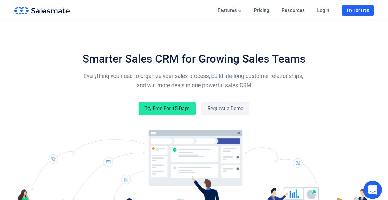 Salesmate sales funnel tools