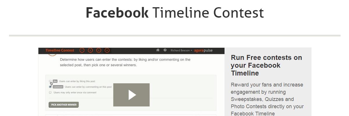 Timeline Contest AgoraPulse