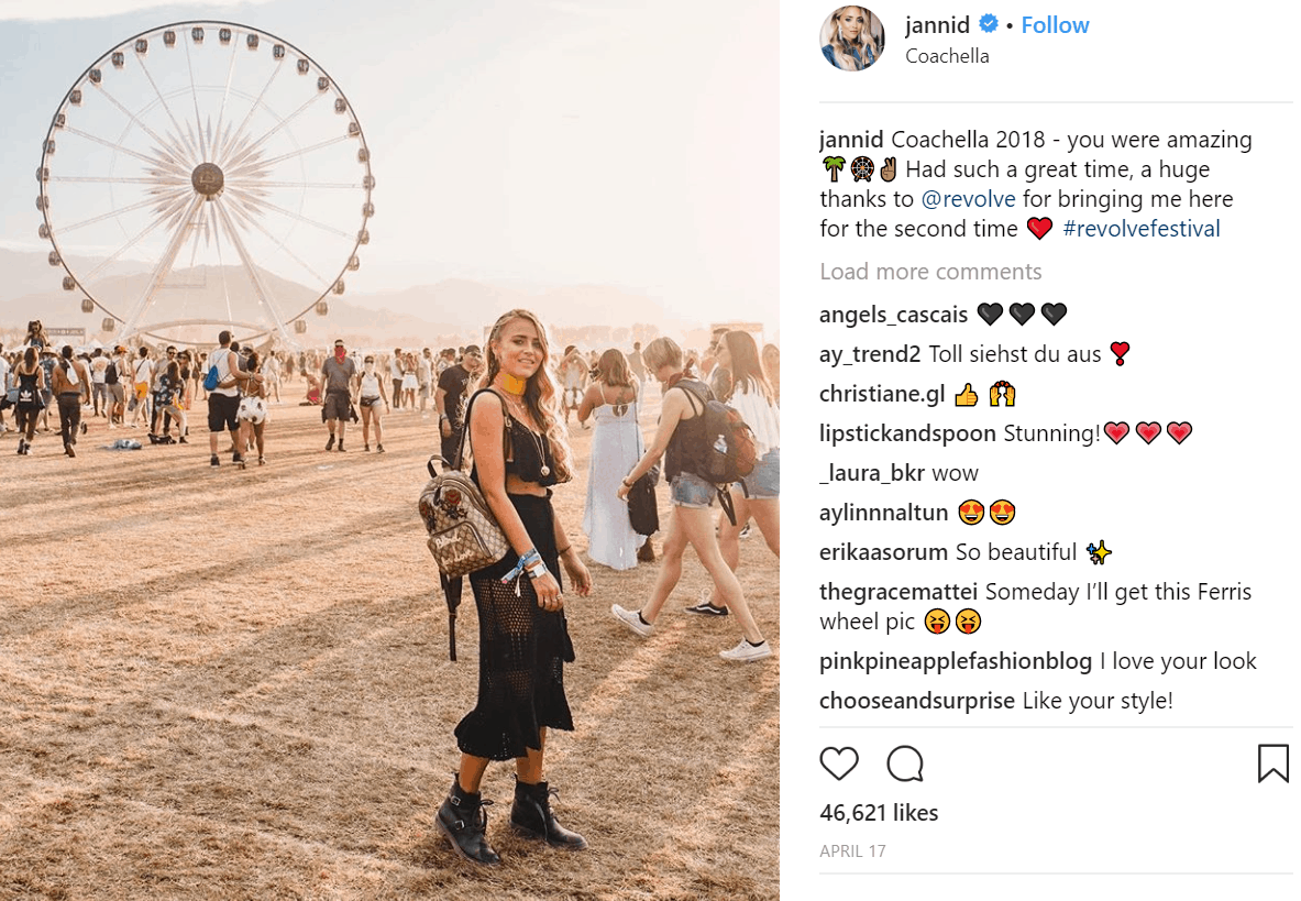Coachella influencer marketing goals