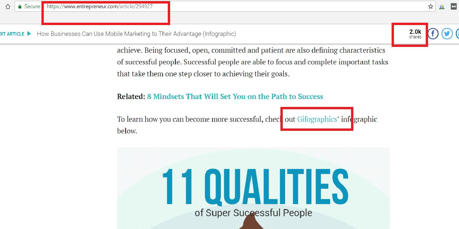 Entrepreneur.com - website traffic
