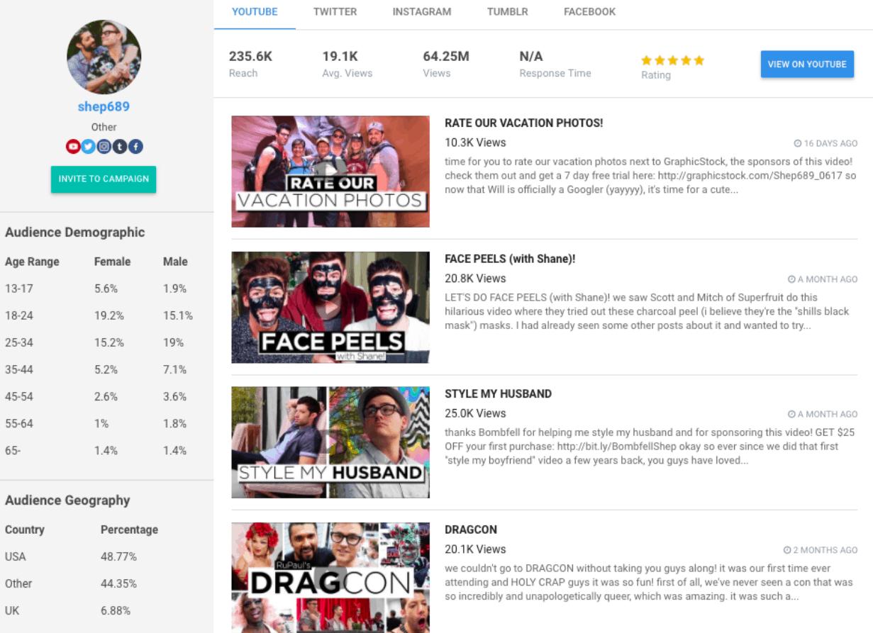 FameBit - influencer marketing tools