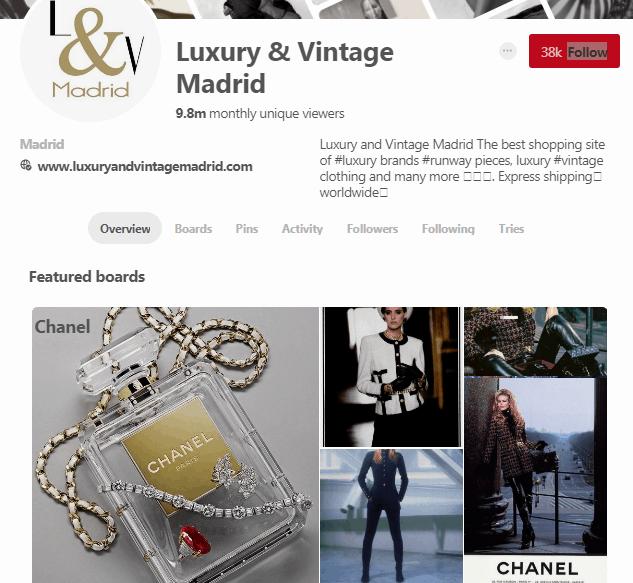 Luxury and Vintage Madrid - b2c social media marketing