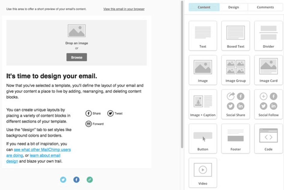 MailChimp - website traffic