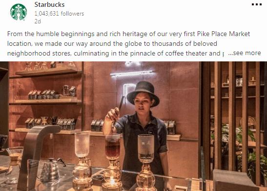 Starbucks - b2c social media marketing