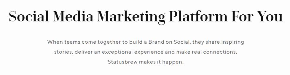 Statusbrew Twitter Marketing Tools