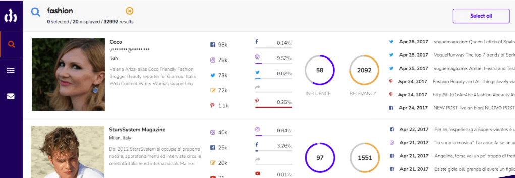 Upfluence - influencer marketing tools