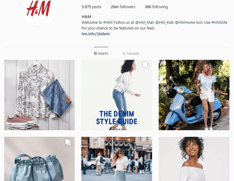 brand H&M - b2c social media marketing