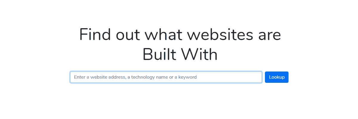 BuiltWith - Best Seo Audit Tool