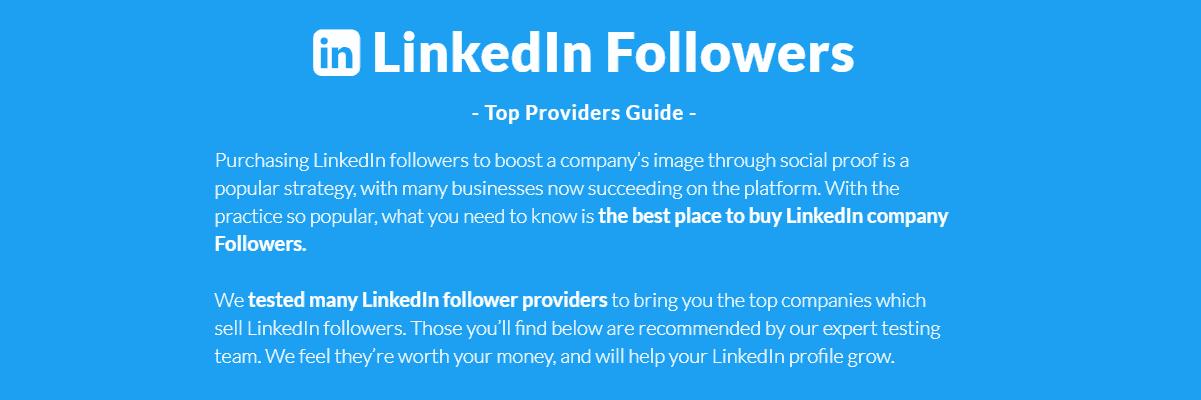 Buy Followers Guide LinkedIn Tool