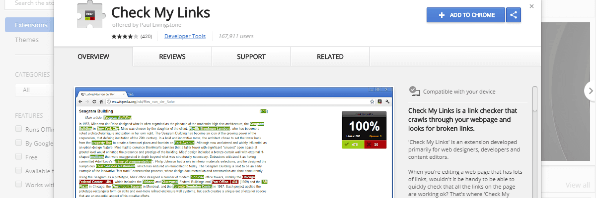 Check My Links - Best Seo Audit Tool