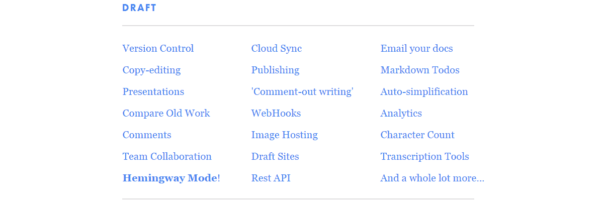 Draft - Content Writing Tools