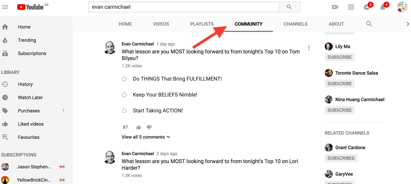 Evan Carmichael - YouTube tips and tricks