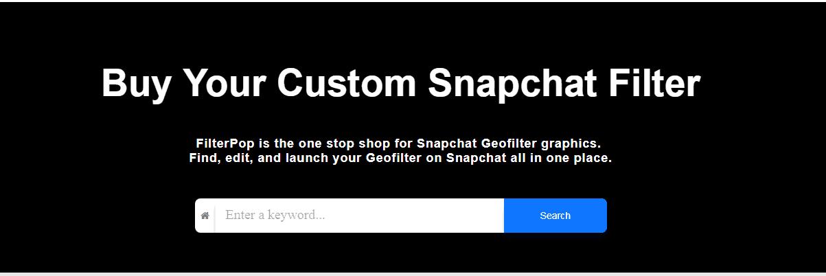 filterpop Snapchat tool