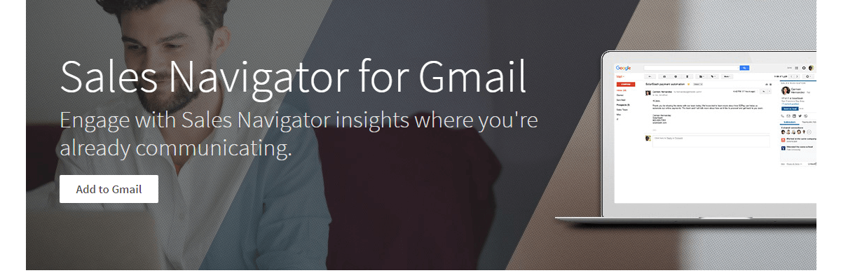 LinkedIn Sales Navigator for Gmail