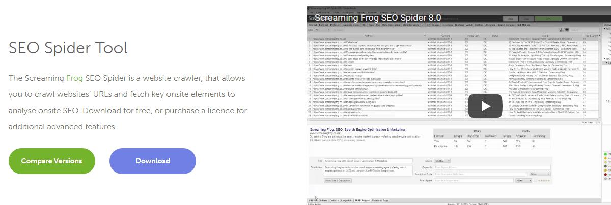 Screaming Frog - Best Seo Audit Tool