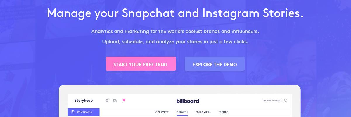 Storyheap - Snapchat tools