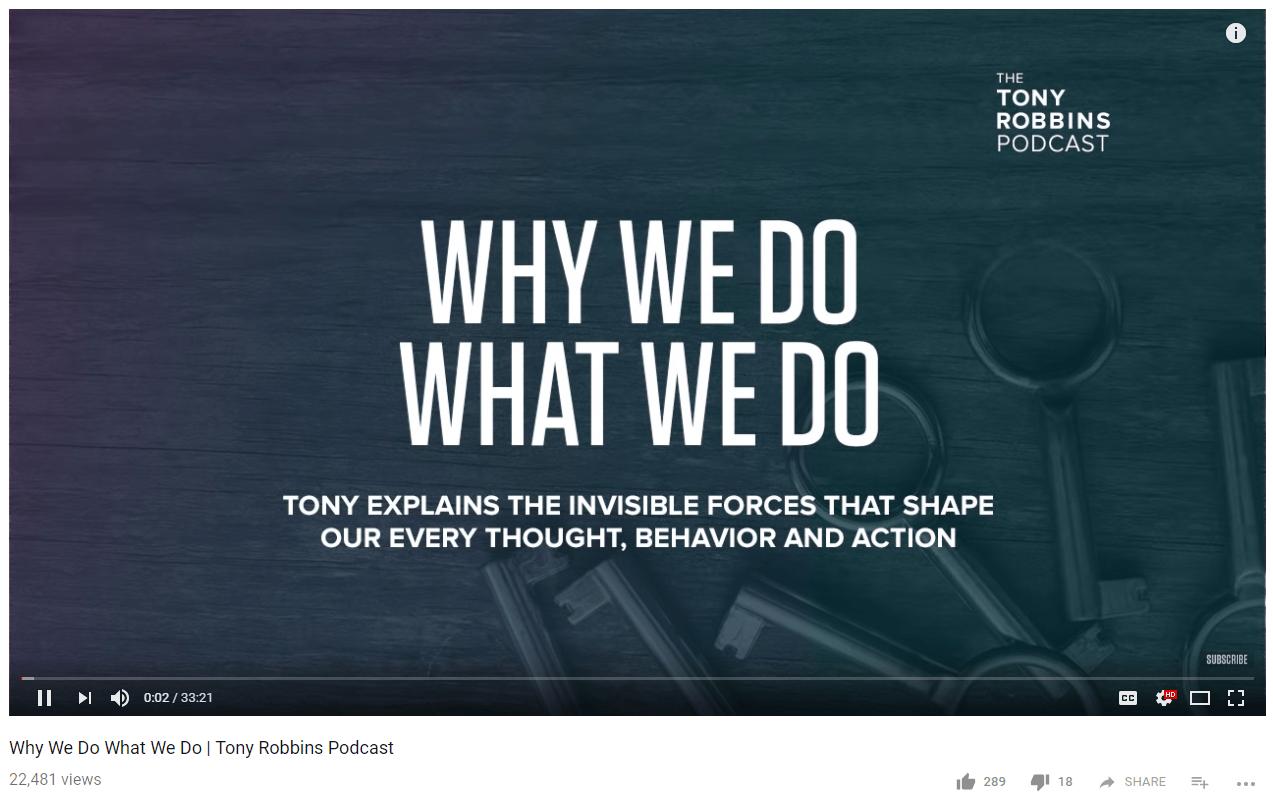Tony Robbins thought leadership marketing