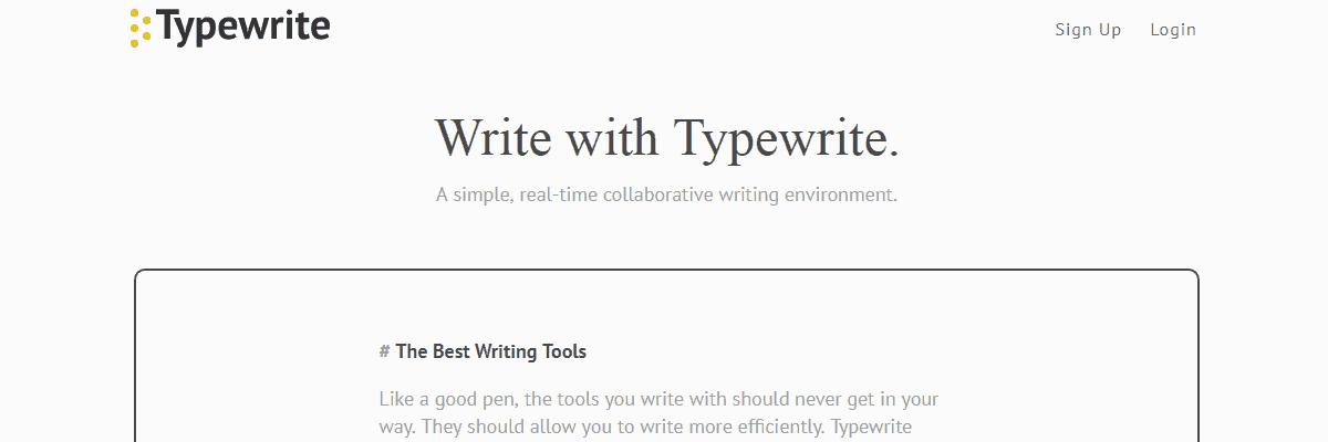 Typewrite - Content Writing Tools