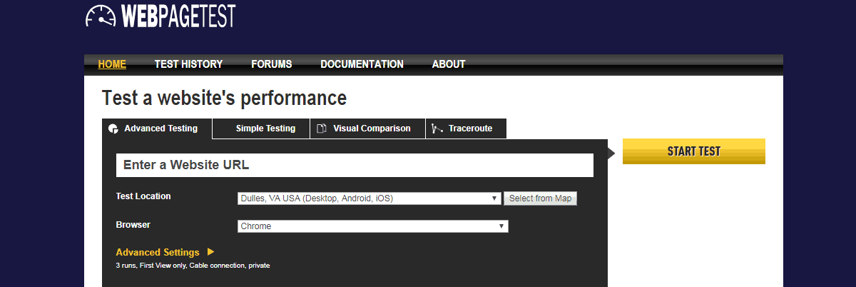 WebPagetest - Best Seo Audit Tools