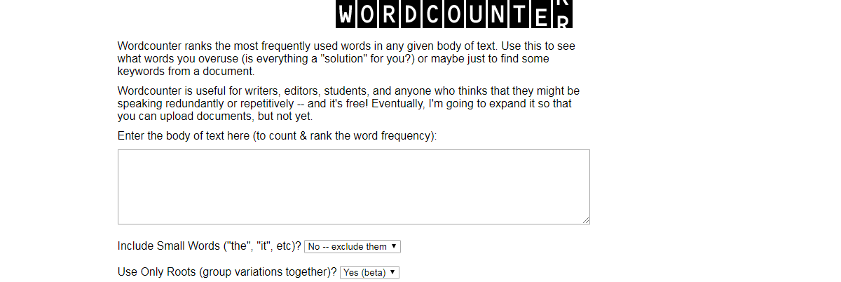 WordCounter - Content Writing Tools