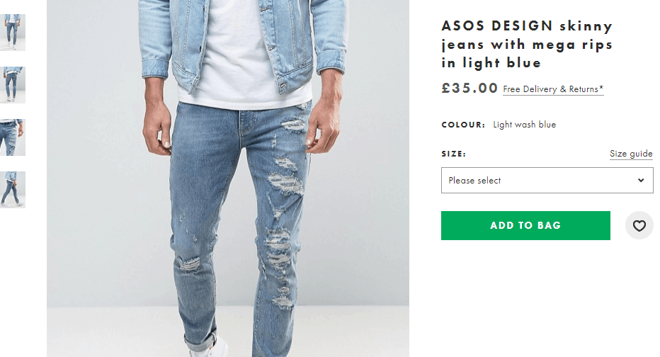 ASOS Ecommerce Product Page