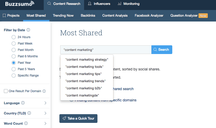 BuzzSumo Content Marketing Automation